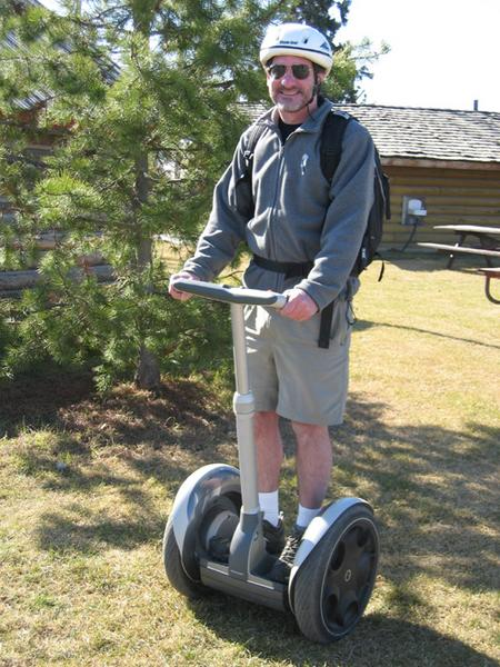 Riding Segway