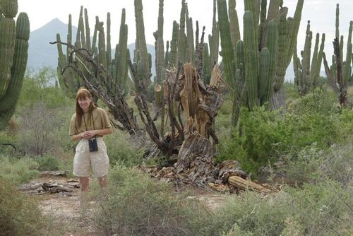 Jane and cactus